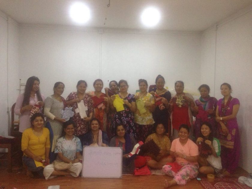 Completed Free Training of Reusable Sanitary Pad in Nepal