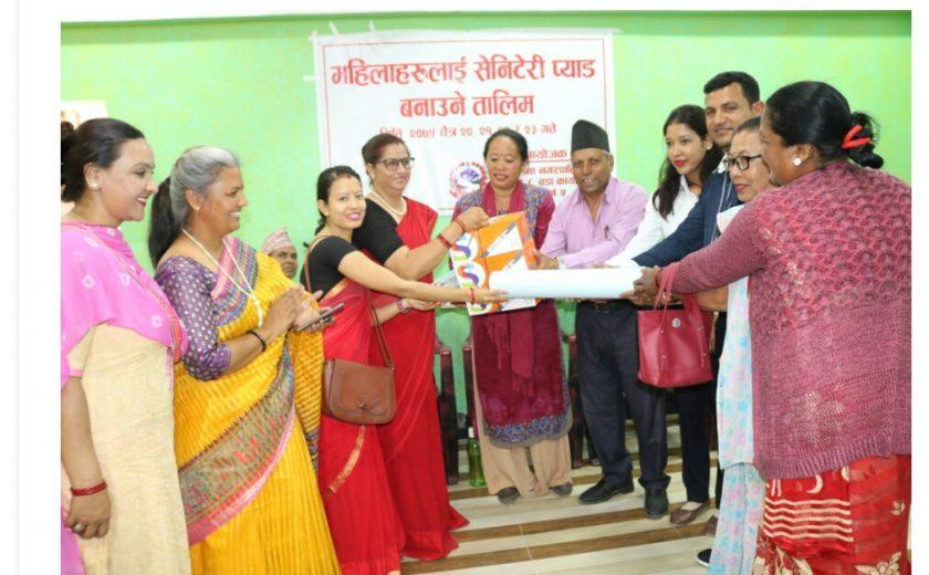 sanitary pad training in sainamaina